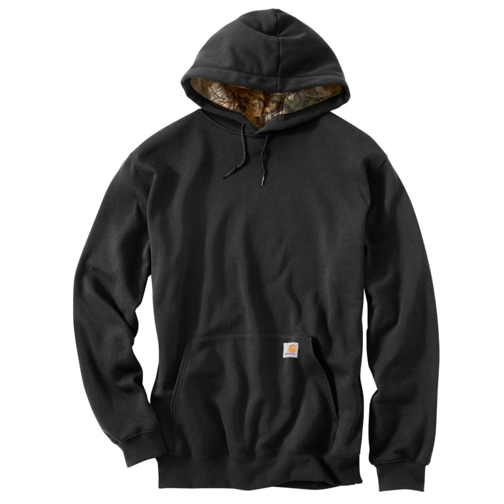 CARHARTT Men's Midweight Houghton Camo Hooded Sweatshirt - BLACK