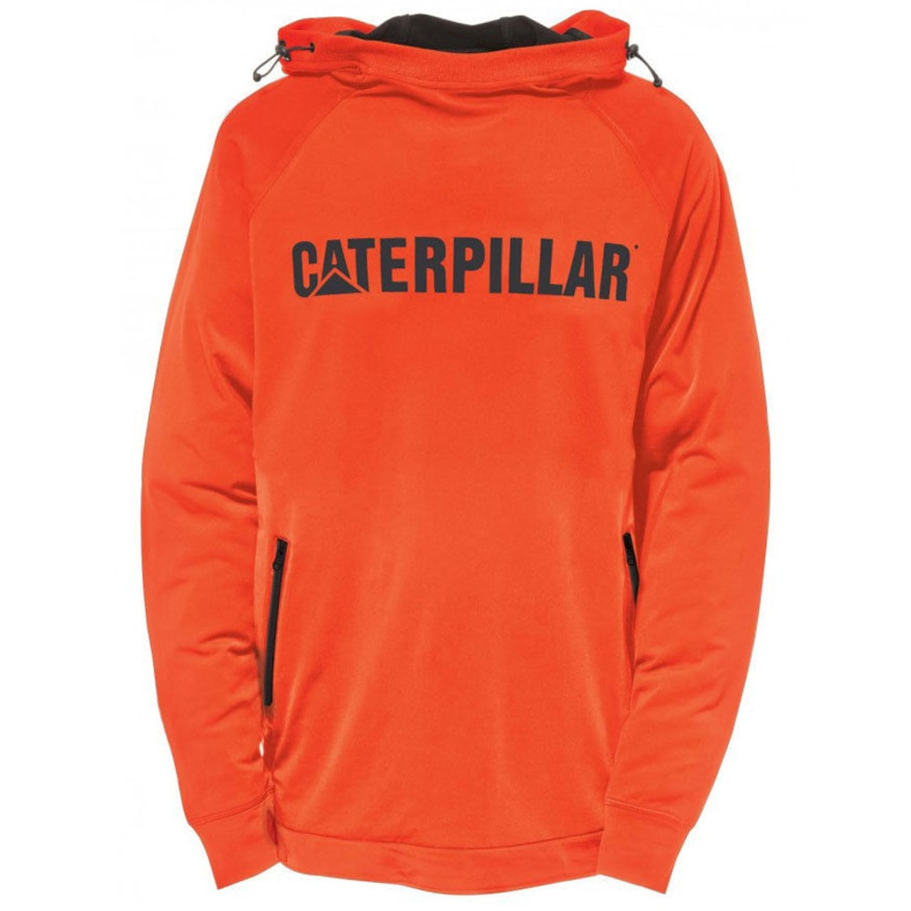 CATERPILLAR Men's Contour Pullover Sweatshirt - Orange, M