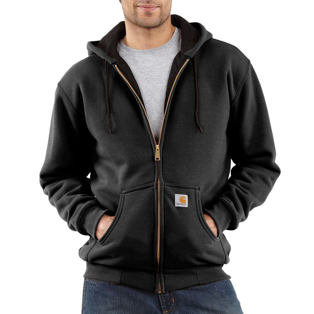 CARHARTT Men's Thermal-Lined Sweatshirt - BLACK