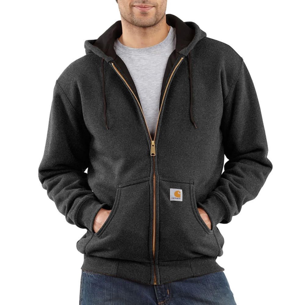 CARHARTT Men's Thermal-Lined Sweatshirt - CHARCOAL