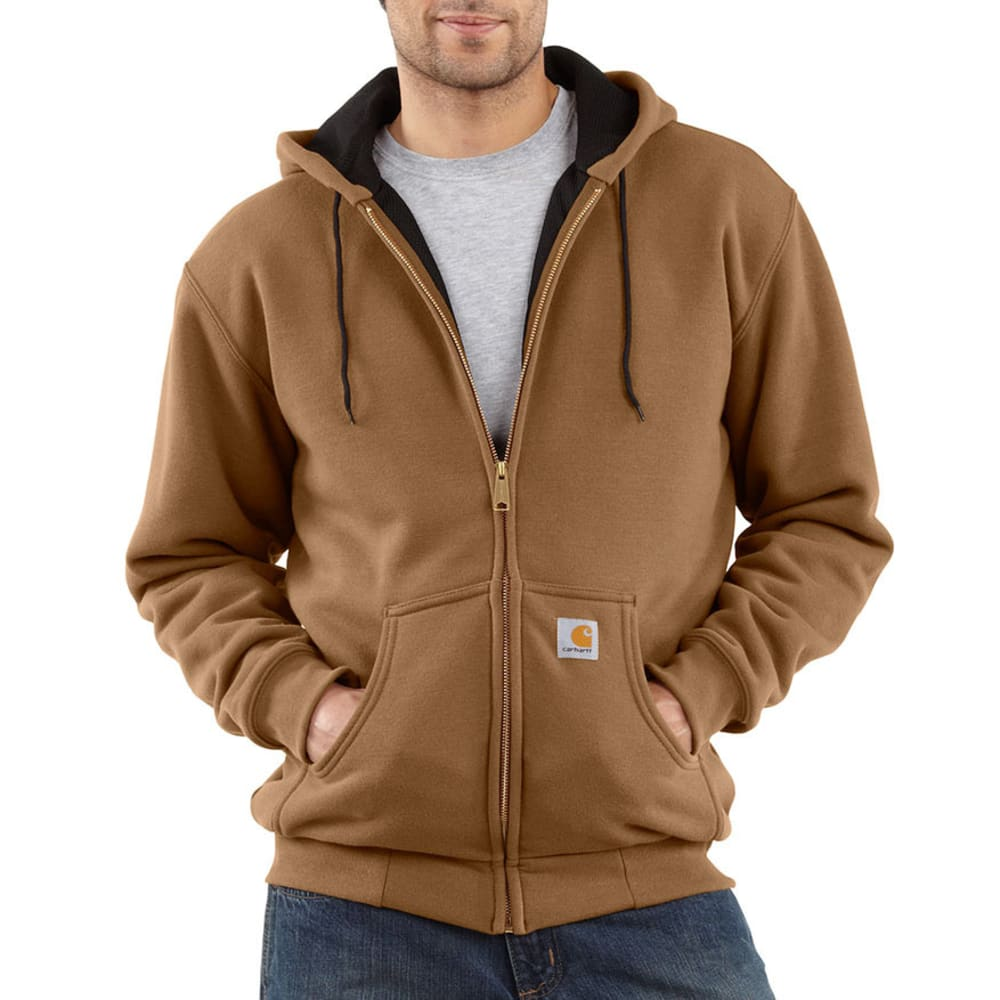 CARHARTT Men's Thermal-Lined Sweatshirt - BROWN