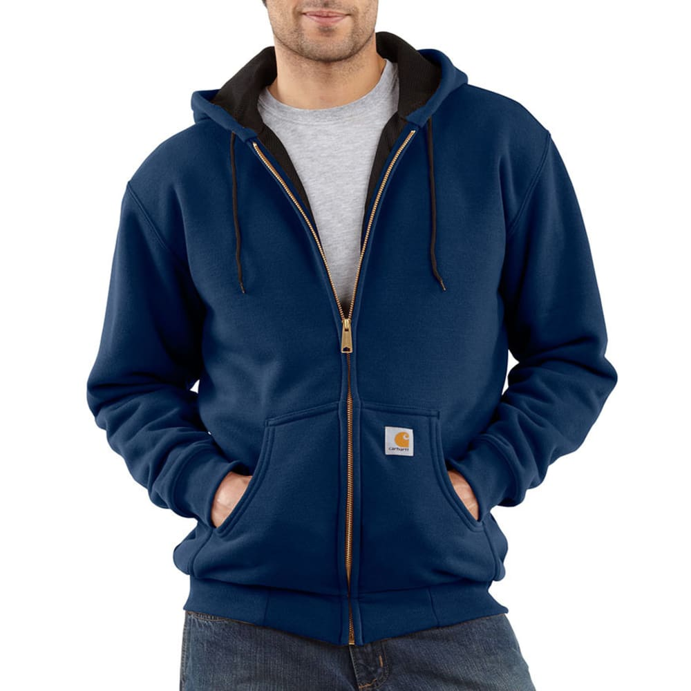 CARHARTT Men's Thermal-Lined Sweatshirt - NAVY