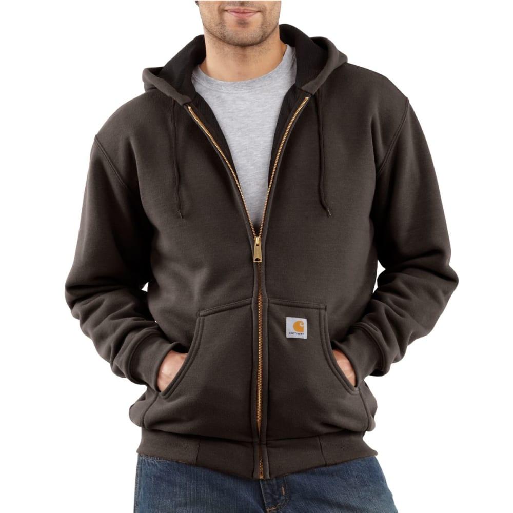 CARHARTT Men's Thermal Lined Hooded Full-Zip Sweatshirt - DARK BROWN