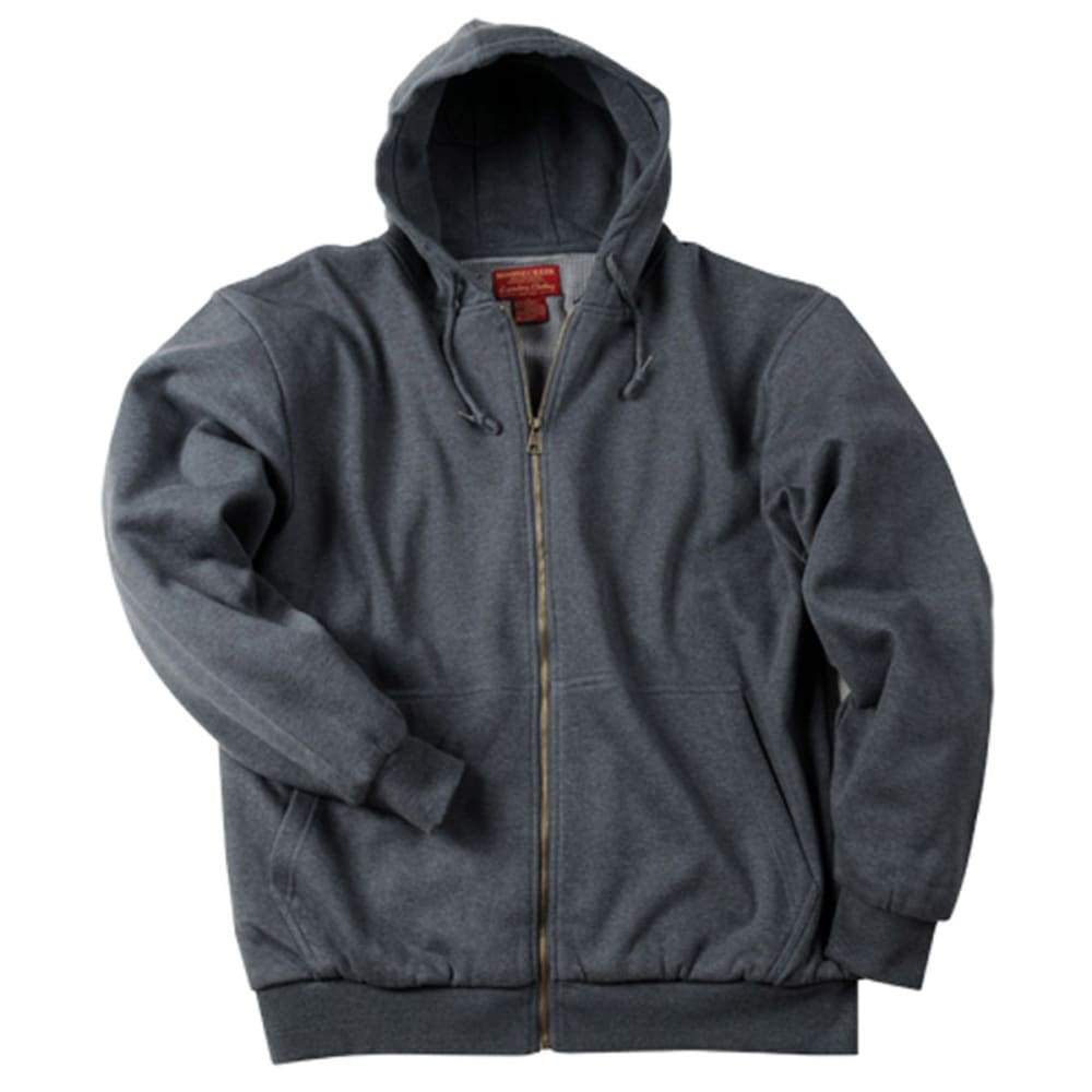 MOOSE CREEK Men's Thermal Lined Hooded Fleece - CHARCOAL