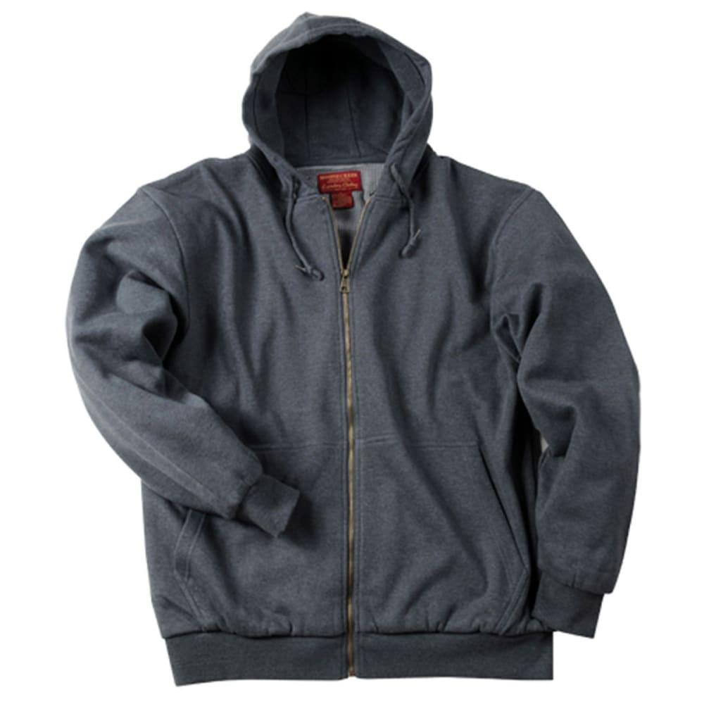 MOOSE CREEK Men's Thermal Lined Hooded Fleece - CHARCOAL