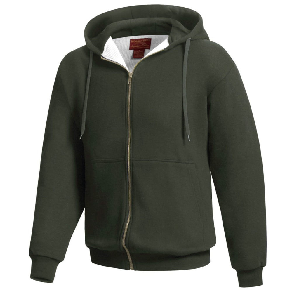 MOOSE CREEK Men's Thermal Lined Hooded Fleece - LODEN