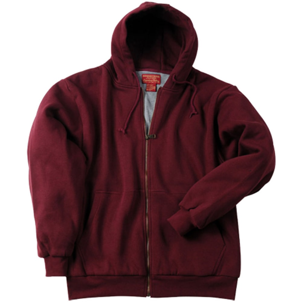 MOOSE CREEK Men's Thermal Lined Hooded Fleece - WINE/BURGUNDY