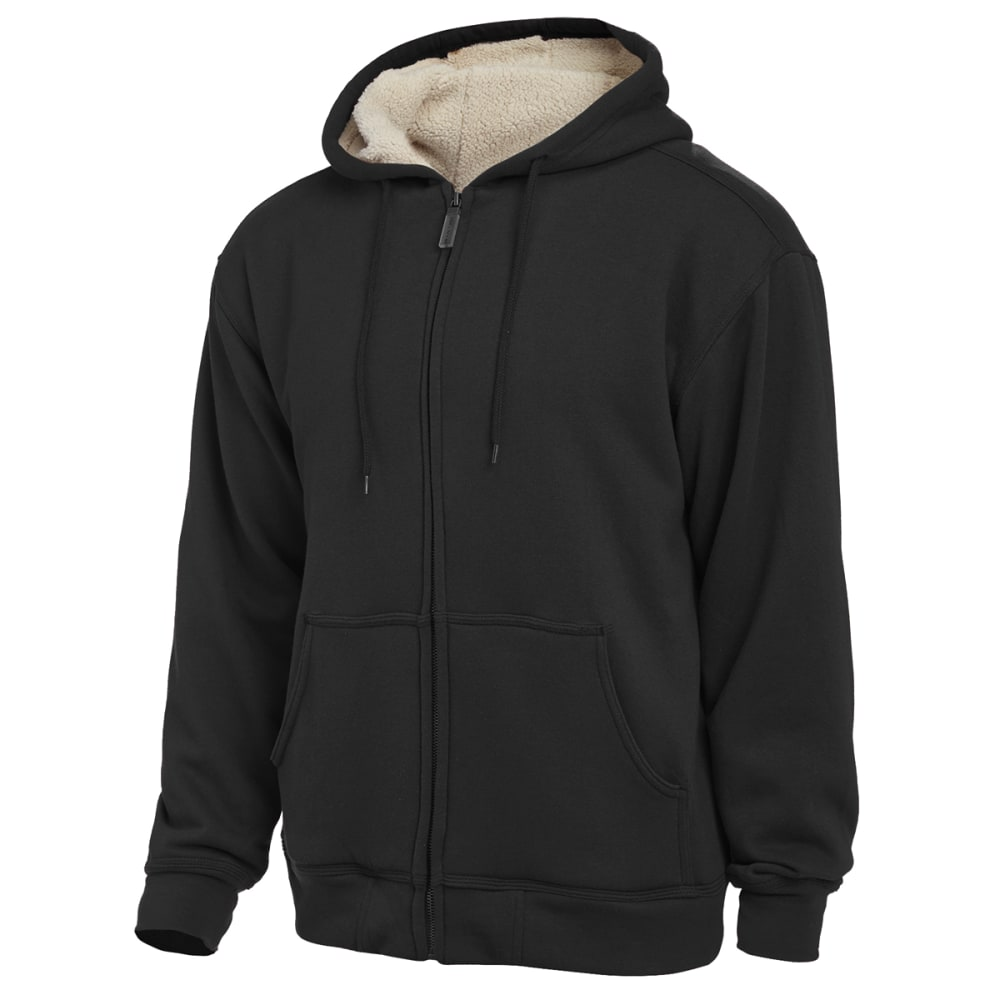 Moose Creek Men's Berber Lined Hooded Fleece - BLACK