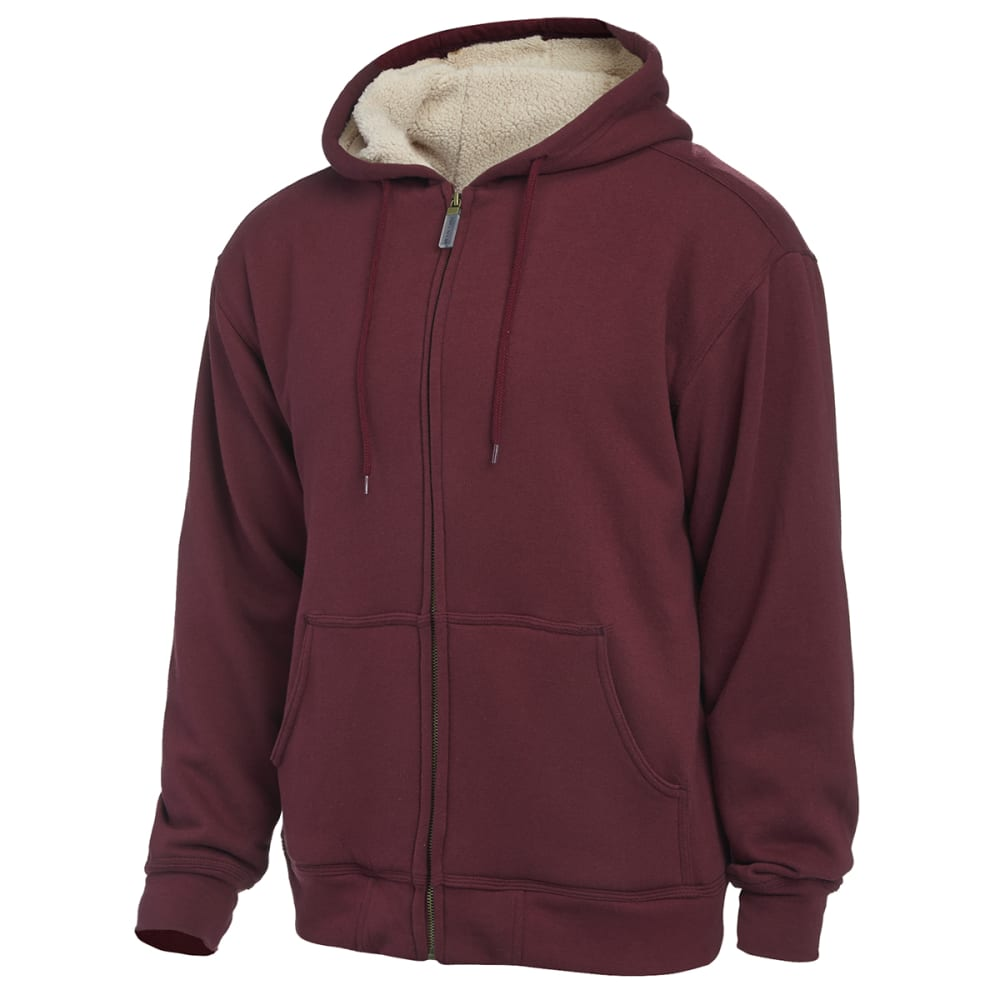 Moose Creek Berber Lined Hooded Fleece - BURGUNDY