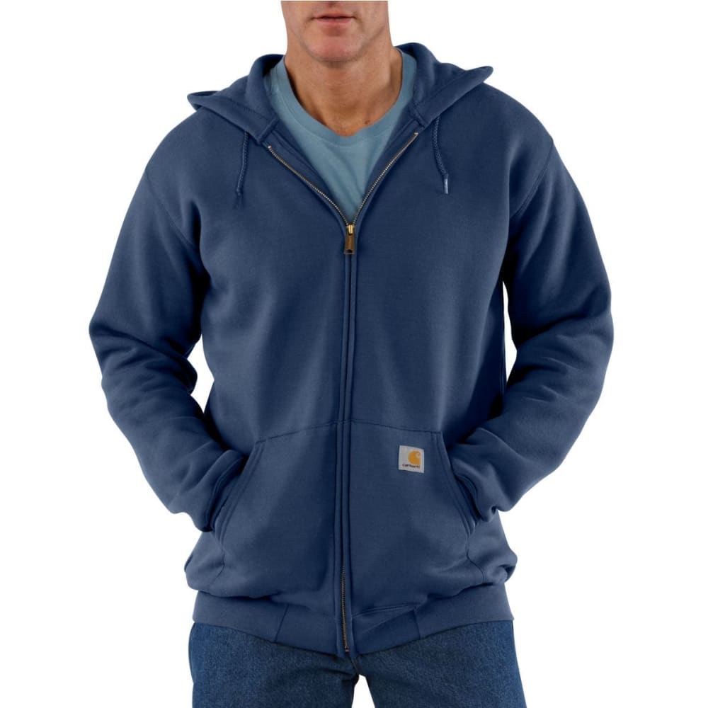 CARHARTT Men's Midweight Hooded Zip-Front Sweatshirt - NEW NAVY