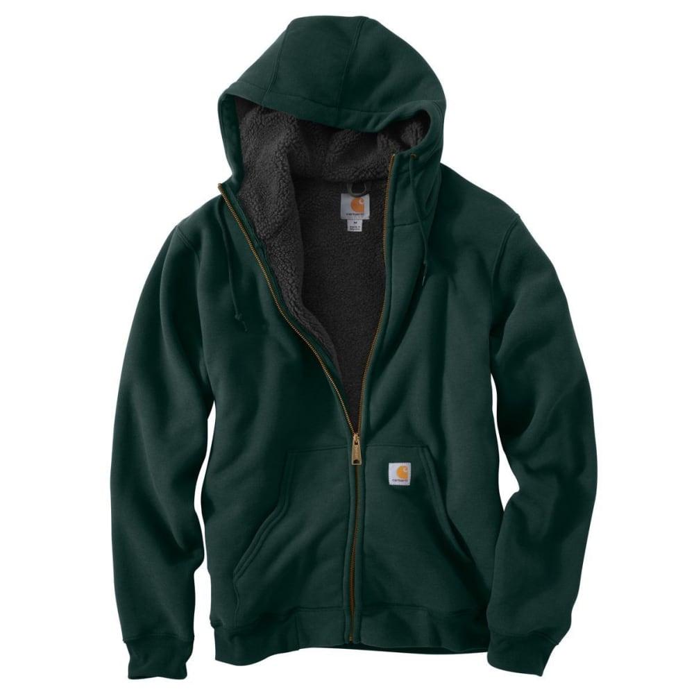 CARHARTT Men's Collinston Brushed-Fleece Sherpa-Lined Sweatshirt - DROP 365 CANOPY GRN
