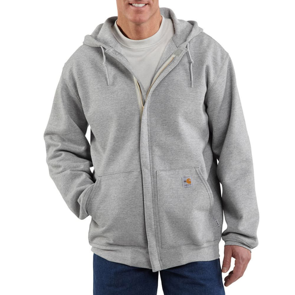 CARHARTT Men's Flame-Resistant Heavyweight Sweatshirt - HEATHER GREY