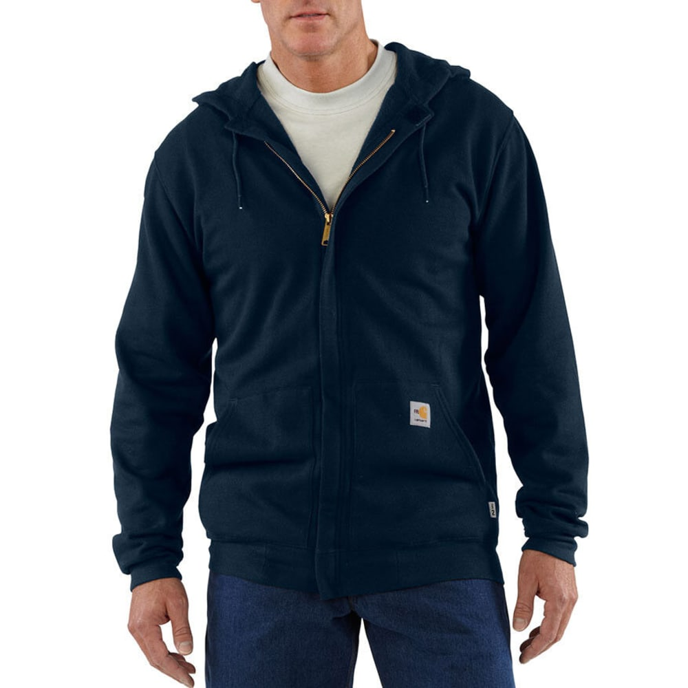 CARHARTT Men's Flame-Resistant Heavyweight Sweatshirt, Extended Sizes - DARK NAVY