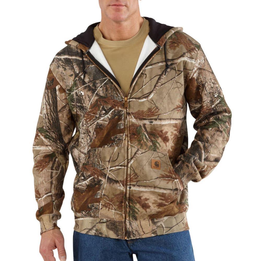 CARHARTT Men's Midweight WorkCamo AP Hooded Zip-Front Sweatshirt - CAMO BROWN