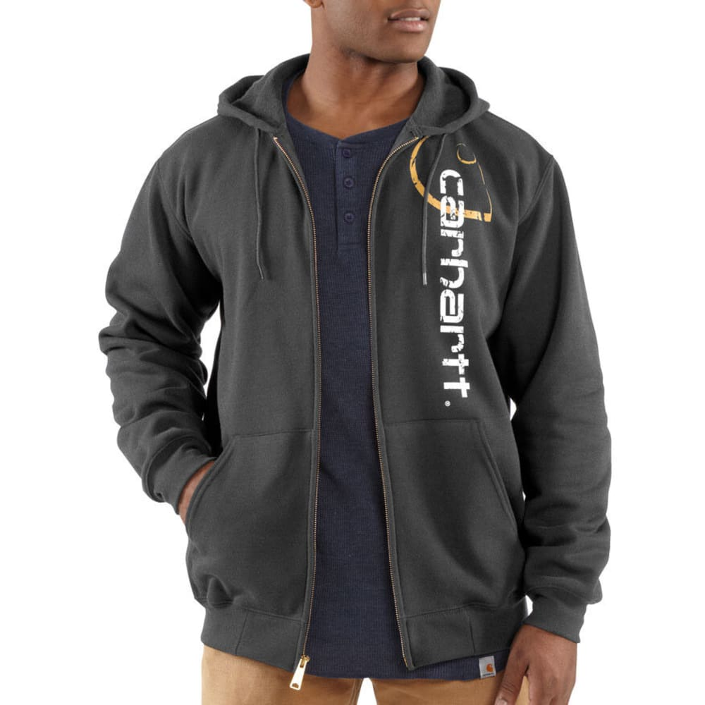 CARHARTT Men's Big C Signature Logo Sweatshirt, Extended Sizes - CHARCOAL HEATHER