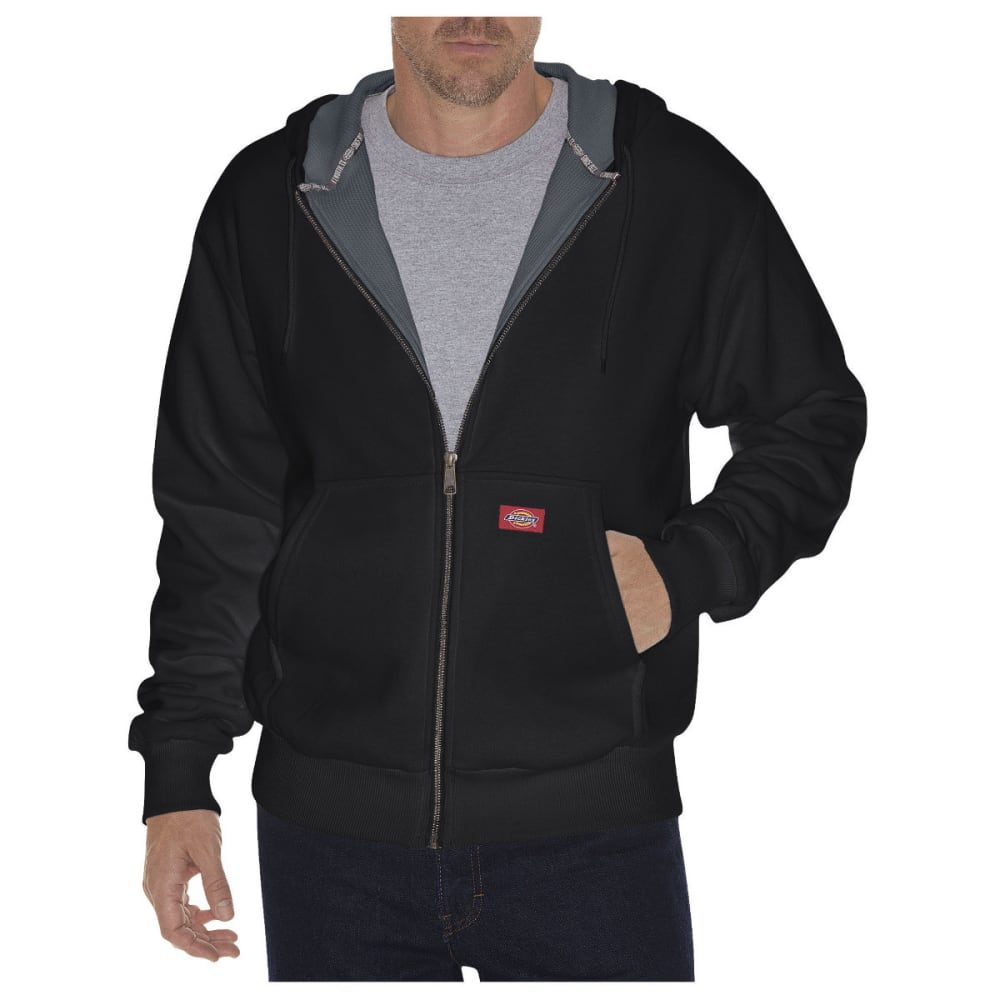 Dickies Men's Thermal Lined Fleece Hoodie - Black, M