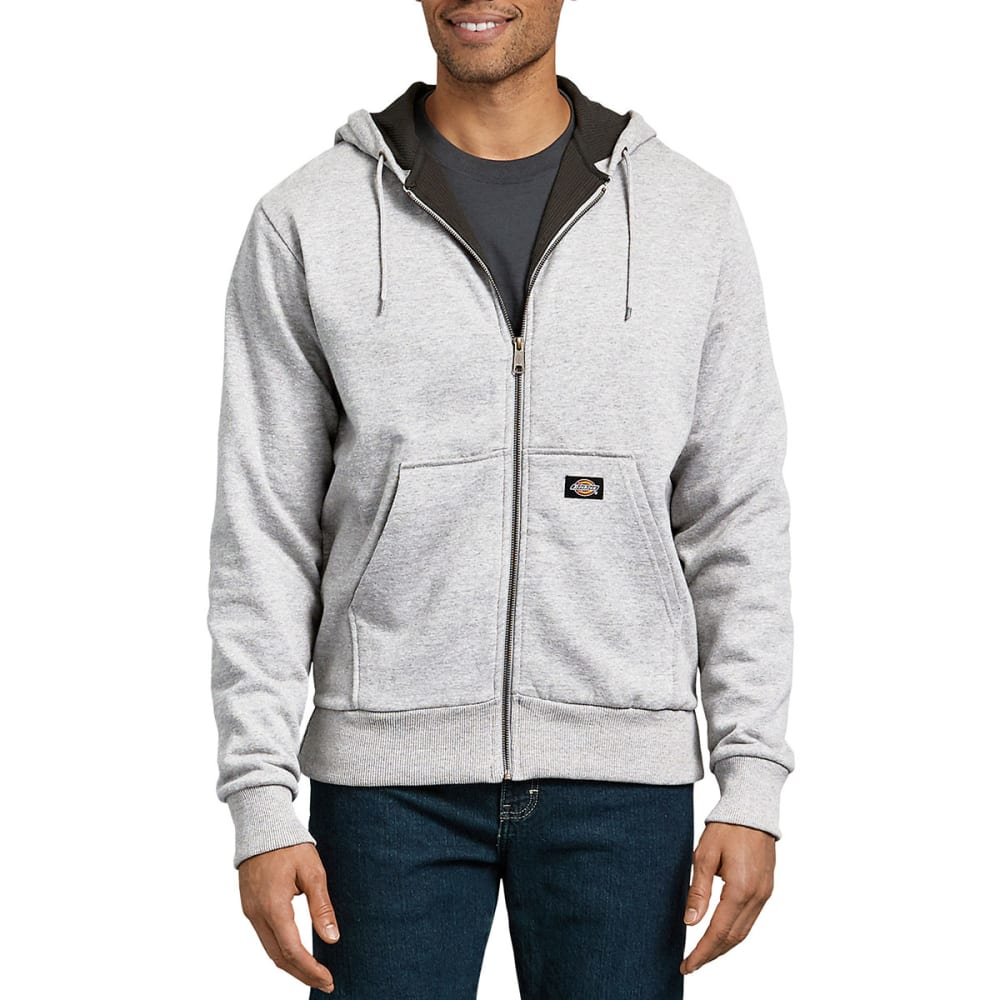 DICKIES Men's Thermal Lined Fleece Hoodie - ASH GRAY-AG