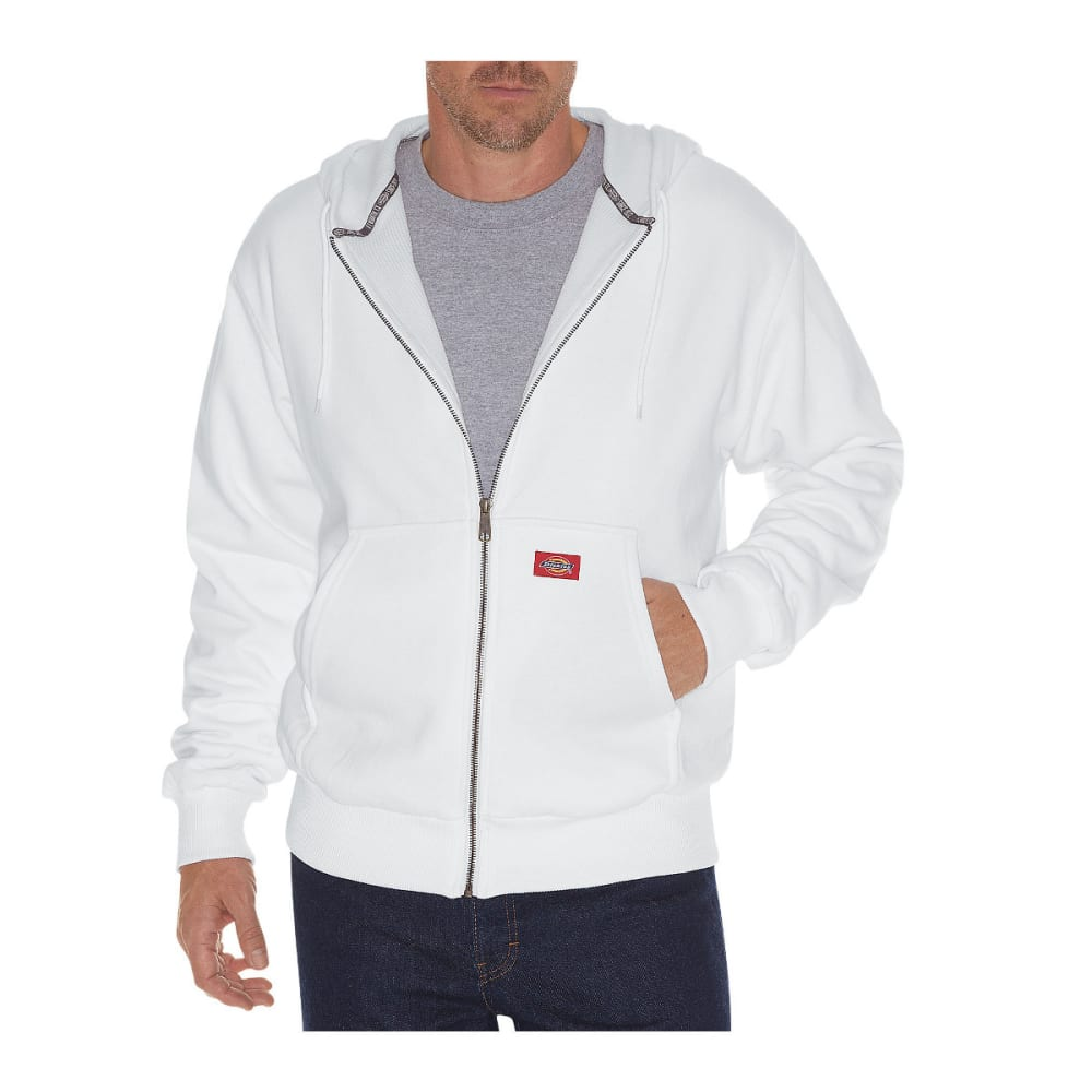 DICKIES Men's Thermal Lined Fleece Hoodie - WHITE