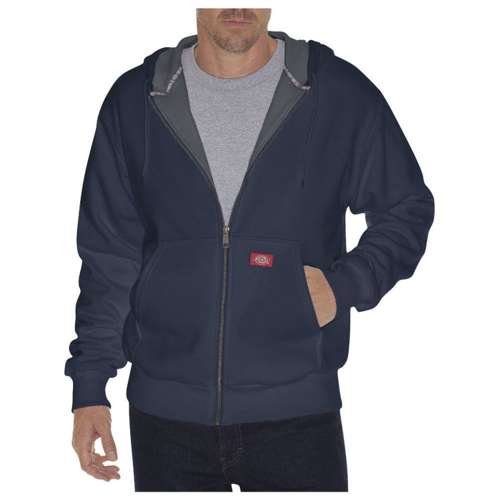 DICKIES Men's Thermal Lined Fleece Hoodie - DARK NAVY