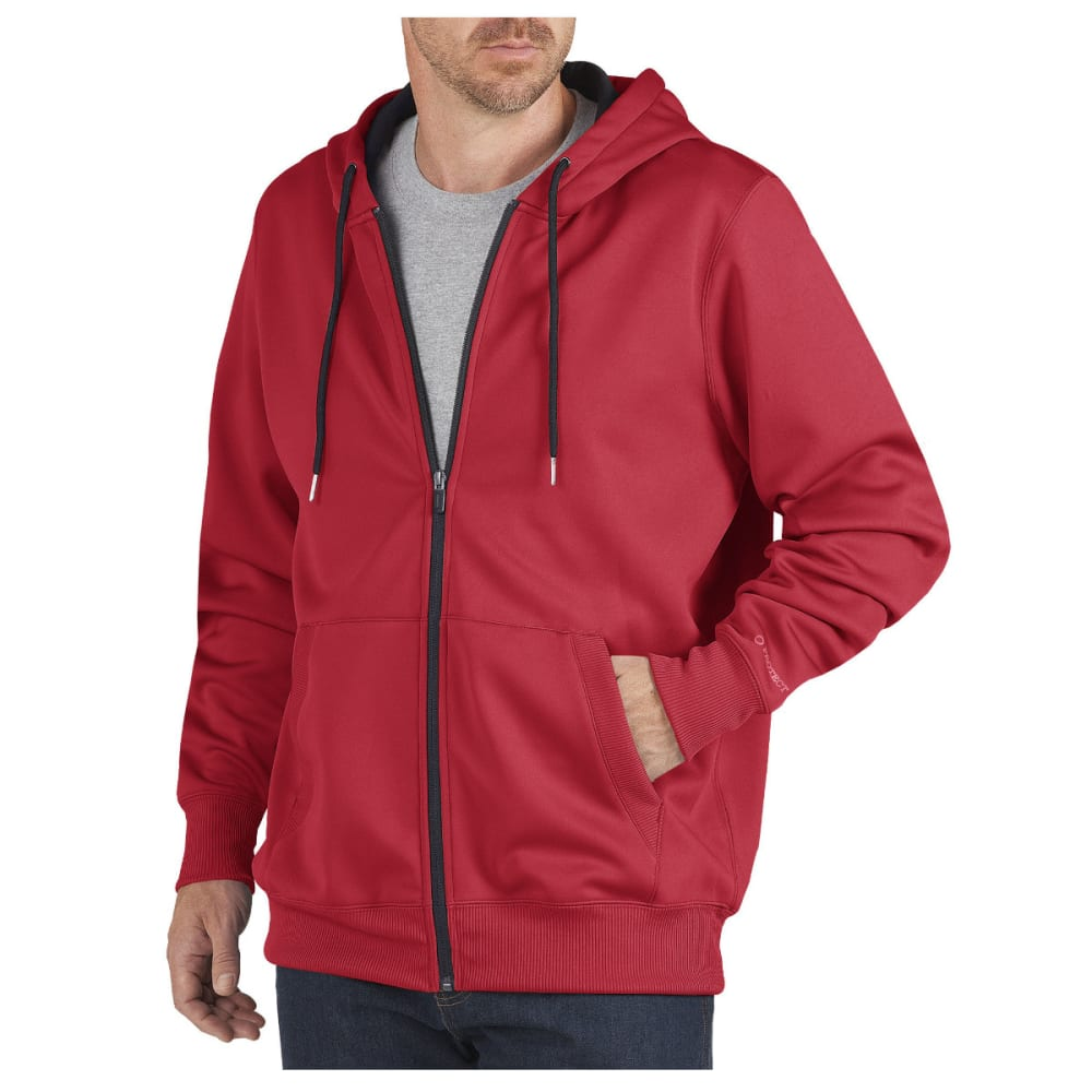 DICKIES Men's Thermal-Lined Fleece Hooded Jacket - ER ENG RED