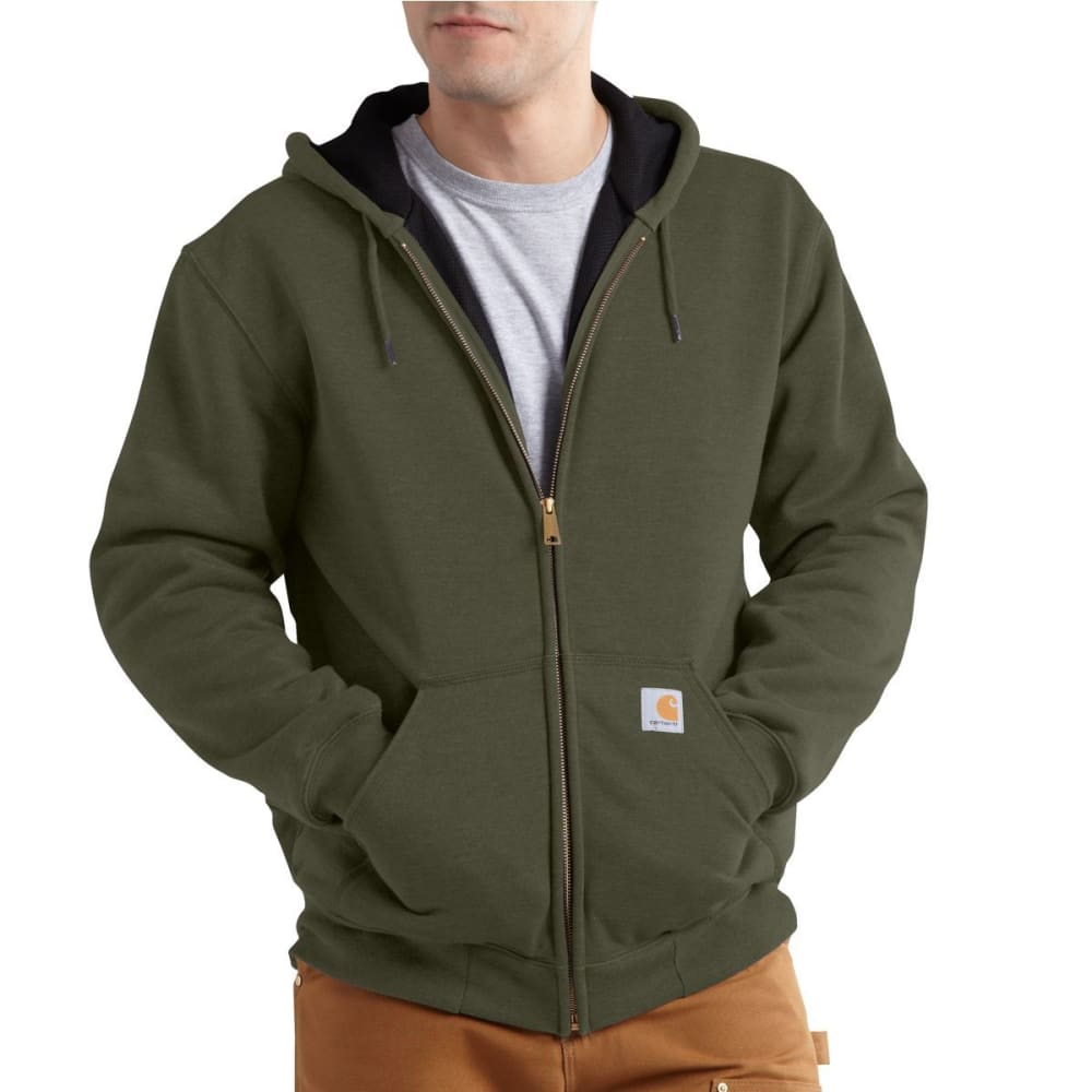 CARHARTT Men's Rutland Thermal-Lined Hooded Zip-Front Sweatshirt - Army Green 301