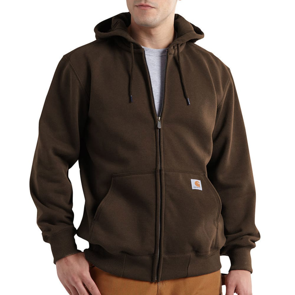 CARHARTT Men's Paxton Hood Zip-Front Sweatshirt - 201 DARK BROWN