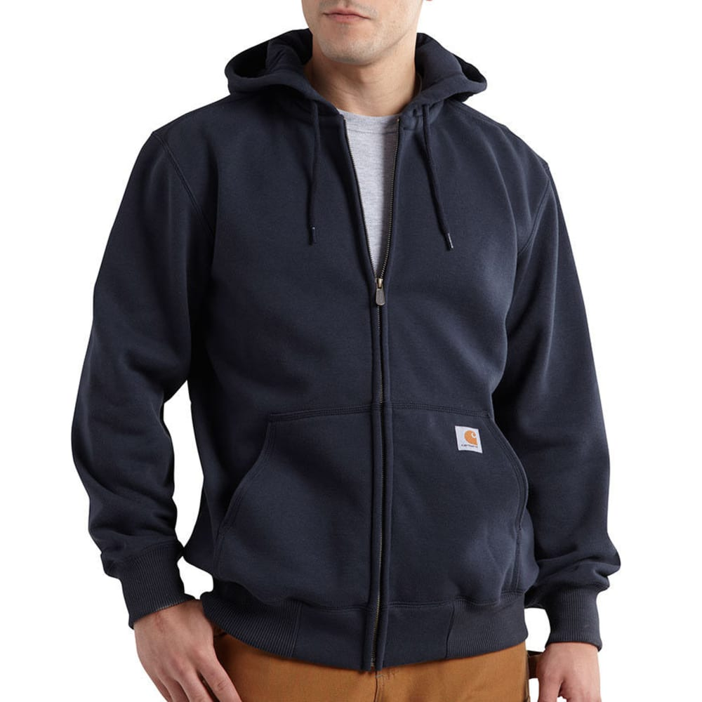 CARHARTT Men's Paxton Hood Zip-Front Sweatshirt - 472 NEW NAVY
