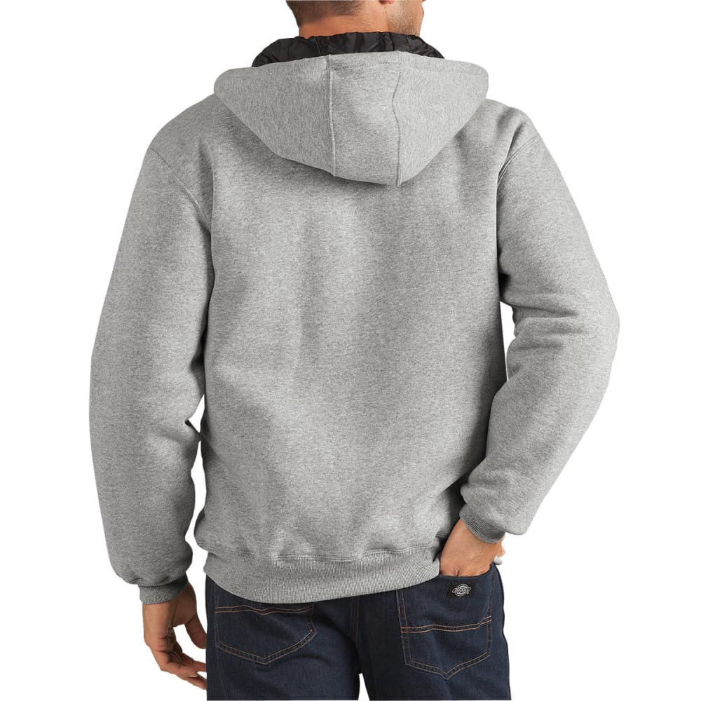 DICKIES Men's Heavyweight Quilted Fleece Hoodie - HG HEATHER GREY