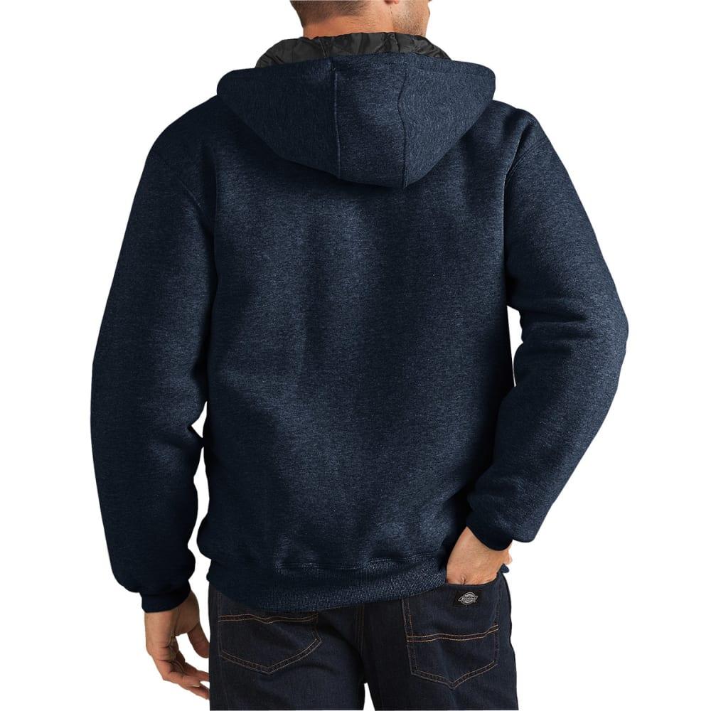 DICKIES Men's Heavyweight Quilted Fleece Hoodie - DN DARK NAVY