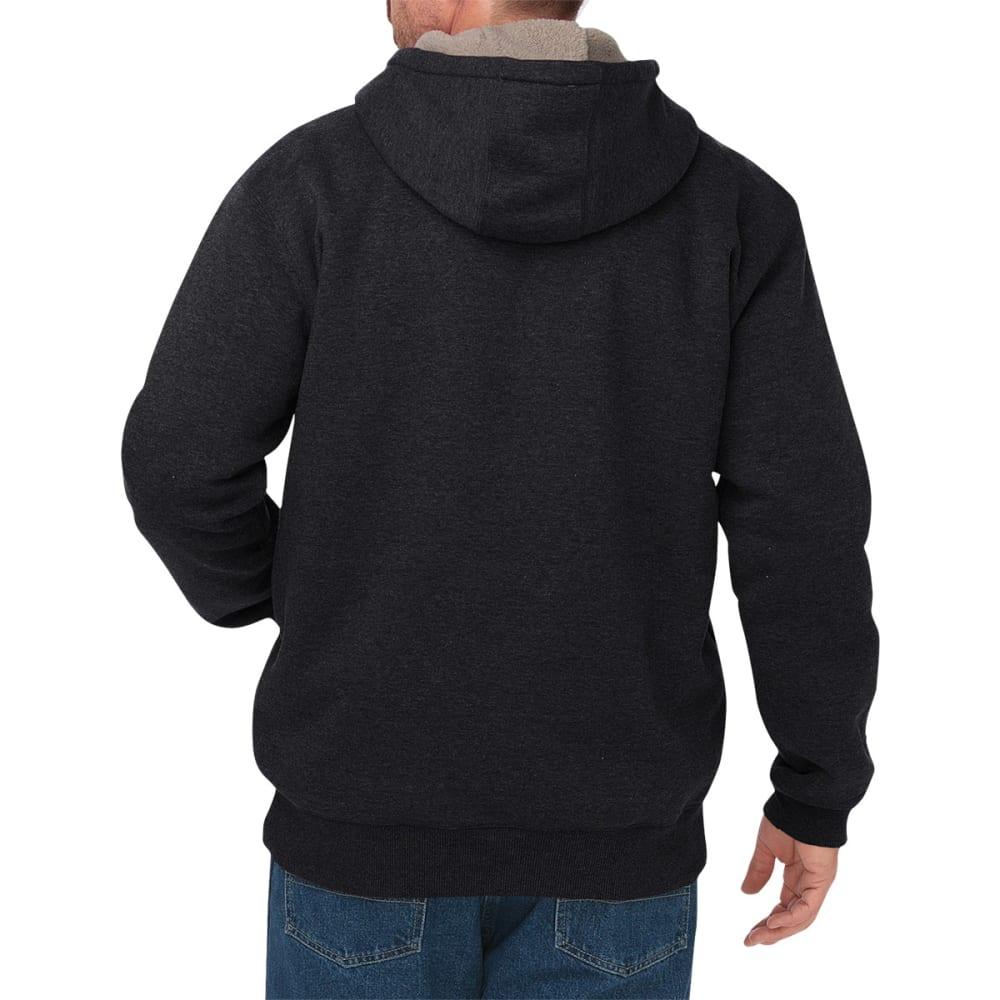 DICKIES Men's Sherpa Lined Fleece Hoodie - BLACK