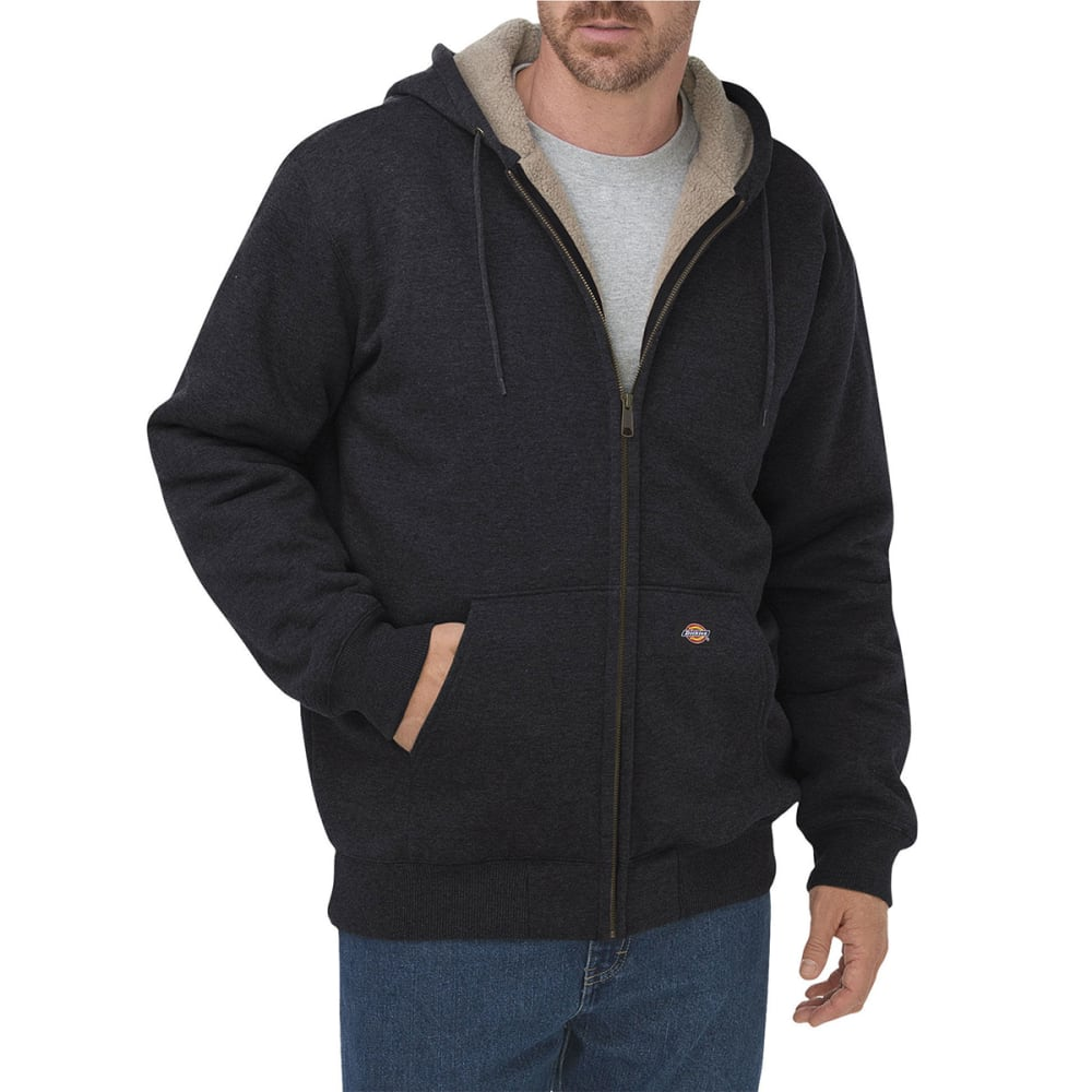 DICKIES Men's Sherpa Lined Fleece Hoodie - BK BLACK