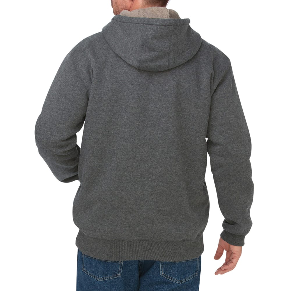 DICKIES Men's Sherpa Lined Fleece Hoodie - HEATHER GREY