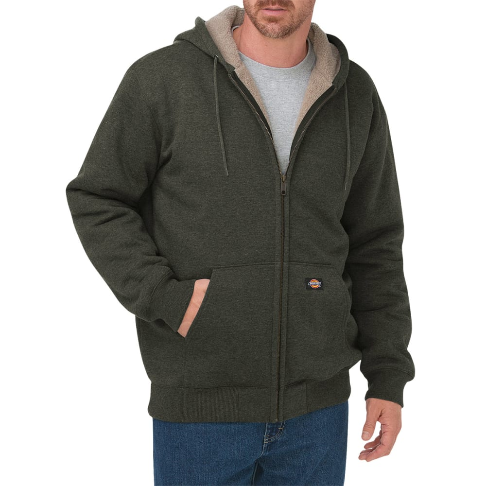 DICKIES Men's Sherpa Lined Fleece Hoodie - GE GRAPE