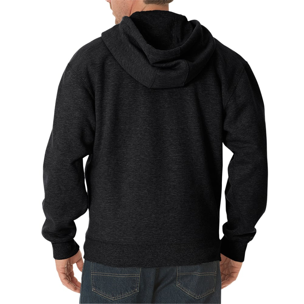 DICKIES Men's Midweight Fleece Full Zip Hoodie - BLACK-BK