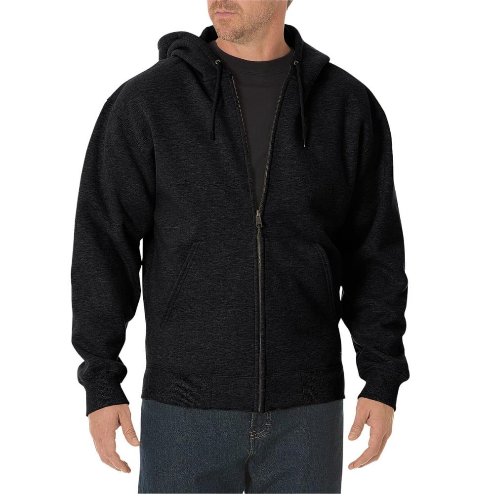DICKIES Men's Midweight Fleece Full Zip Hoodie - BLACK-BK
