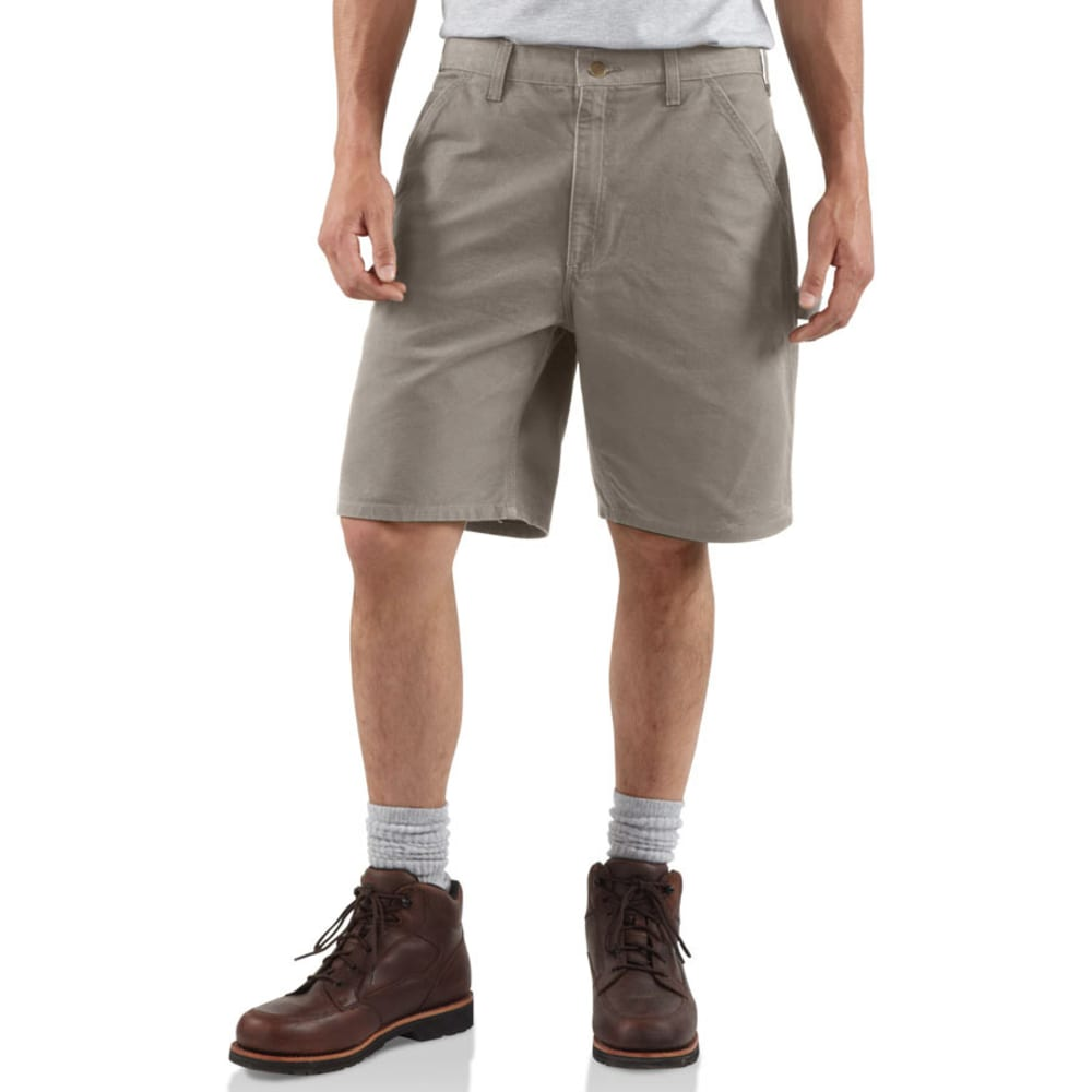 CARHARTT Men's B25 Washed Duck Work Shorts, 8 1/2 in. - DESERT