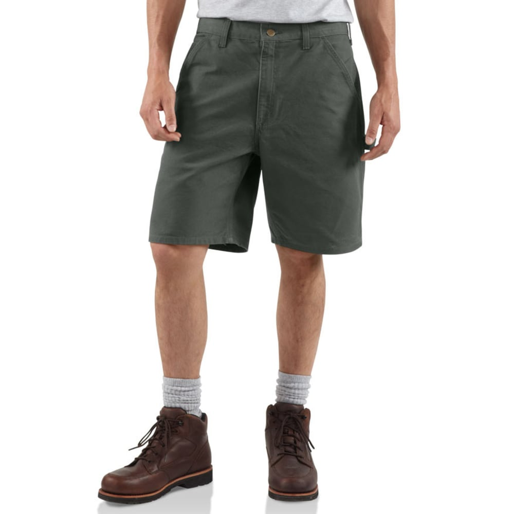 CARHARTT Men's B25 Washed Duck Work Shorts, 8 1/2 in. - MOSS