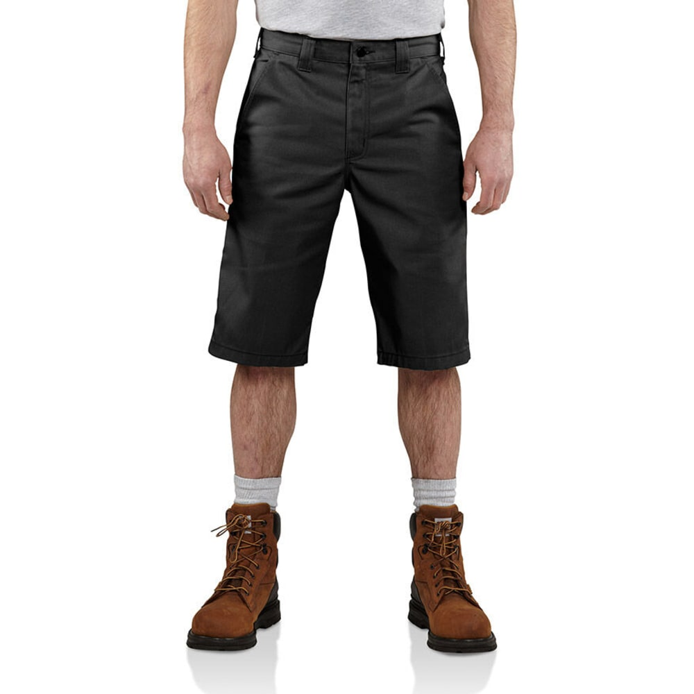 CARHARTT Men's Twill Cell Phone Work Shorts - BLACK