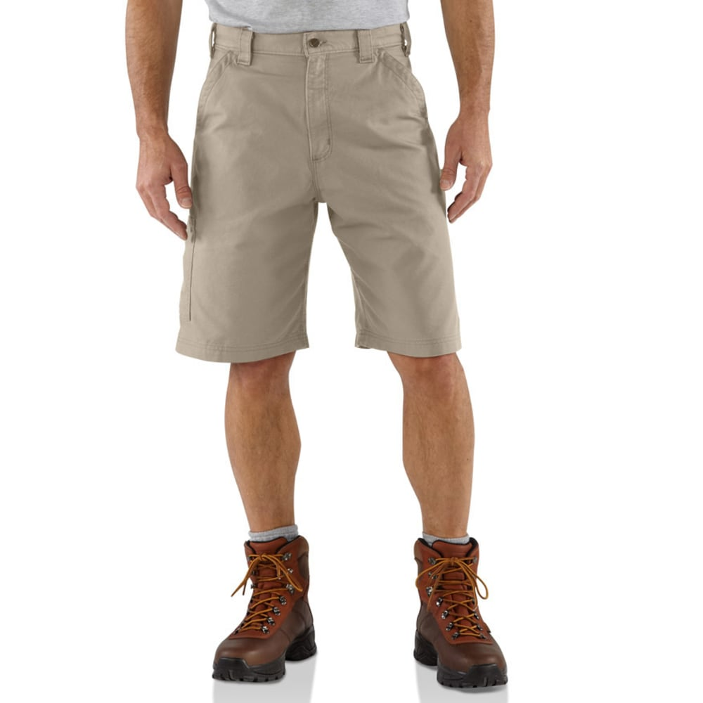 Carhartt Men's Canvas Work Shorts, 10 In. Inseam - Brown, 32