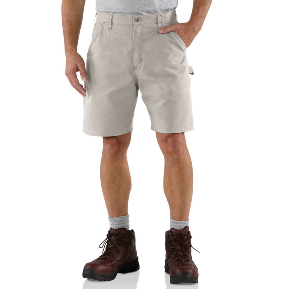 CARHARTT Men's Canvas Work Shorts, 8.5 in. Inseam - PUTTY