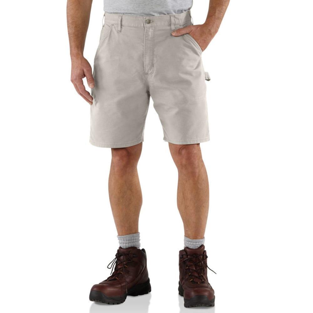 CARHARTT Men's Canvas Work Shorts, 8.5 in. Inseam - PUTTY-DROP