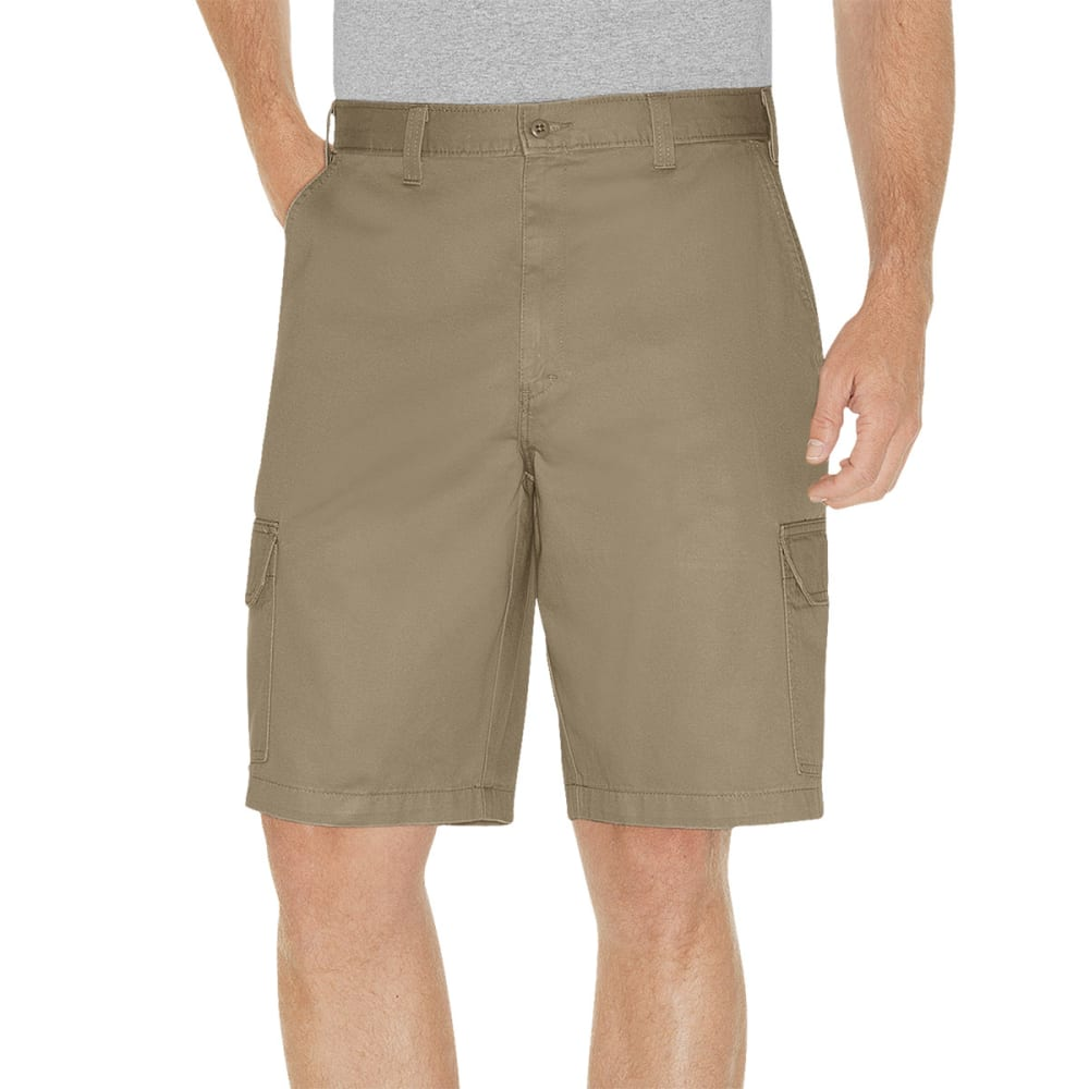 Dickies Men's Loose Fit Cargo Shorts - Brown, 32