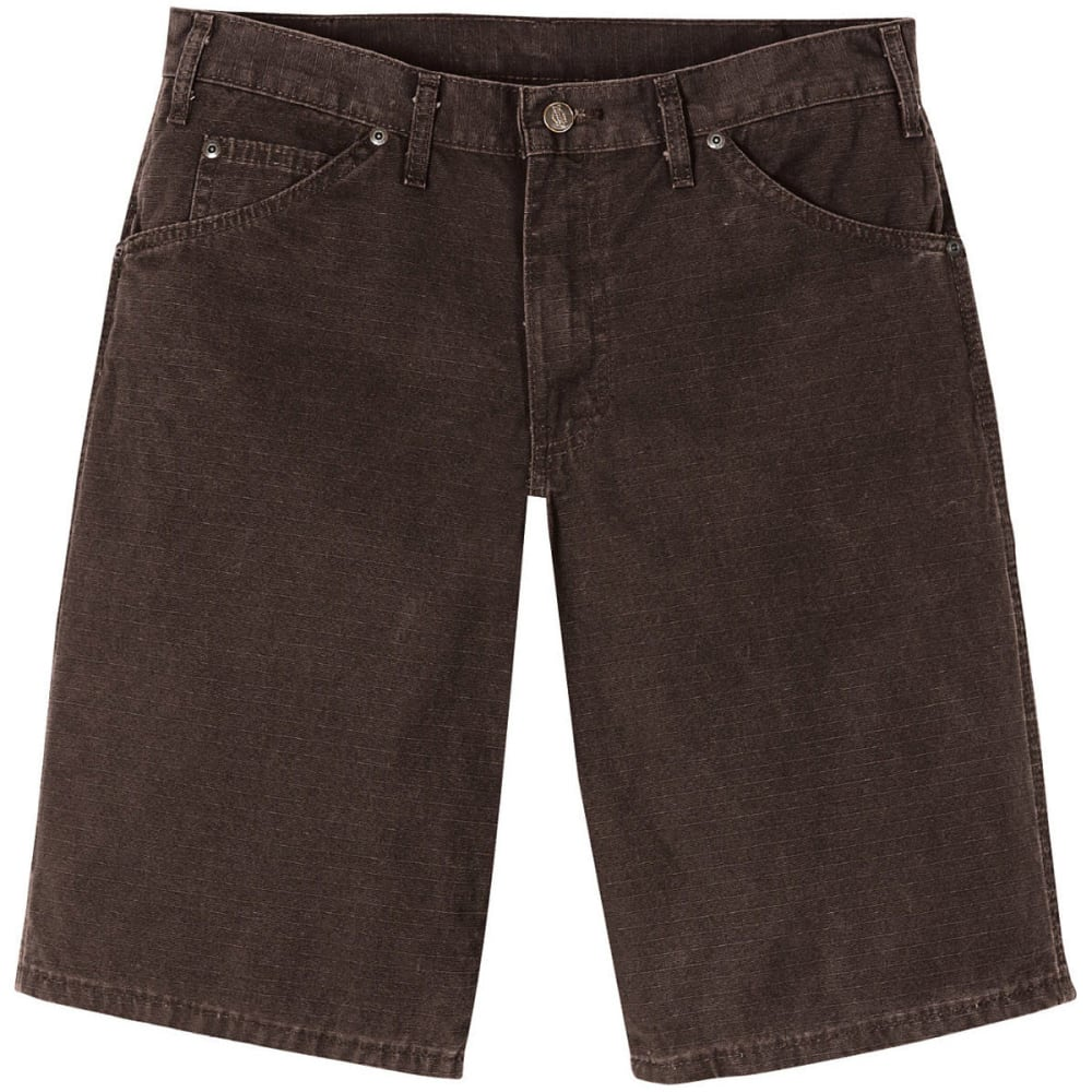 DICKIES Relaxed Fit Ripstop Carpenter Shorts - DARK BROWN
