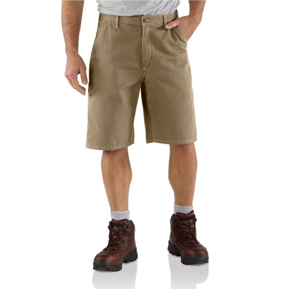 CARHARTT Men's B278 Canvas Work Shorts - KHAKI/OYSTER