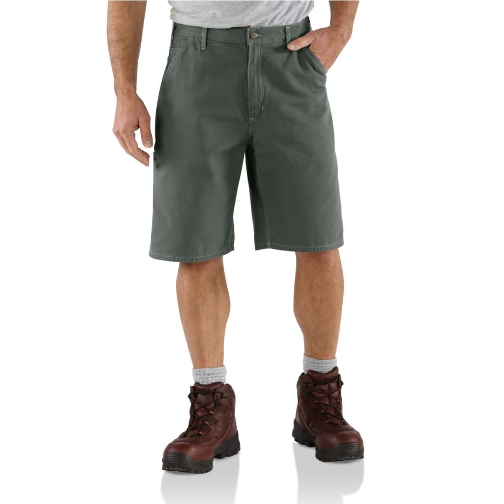 CARHARTT Men's B278 Canvas Work Shorts - MOSS