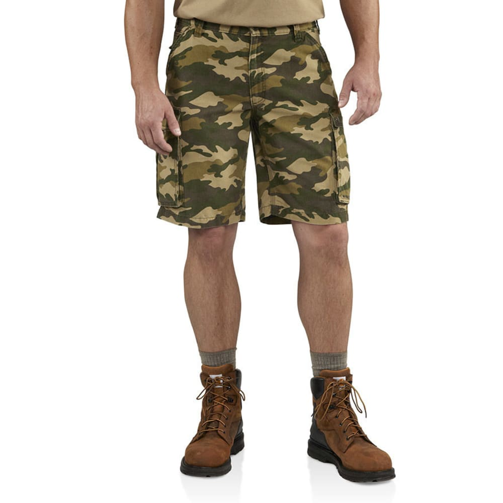 CARHARTT Men's Camo Rugged Cargo Shorts - KHAKI/CAMO