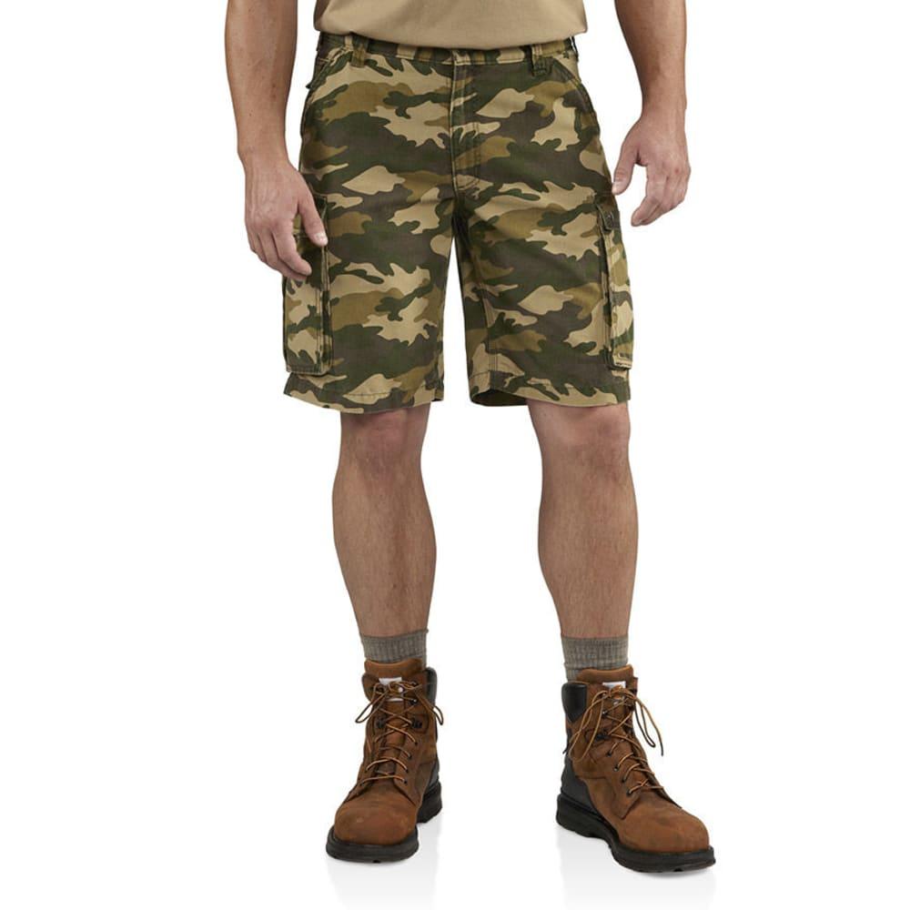 CARHARTT Men's Camo Rugged Cargo Shorts - KHAKI/CAMO