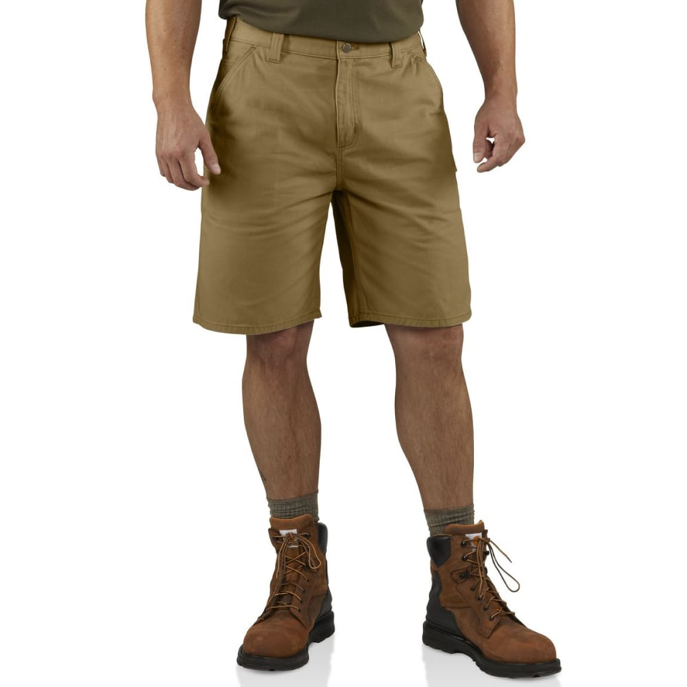 CARHARTT Washed Twill Dungaree Shorts - 253 DARK KHAKI