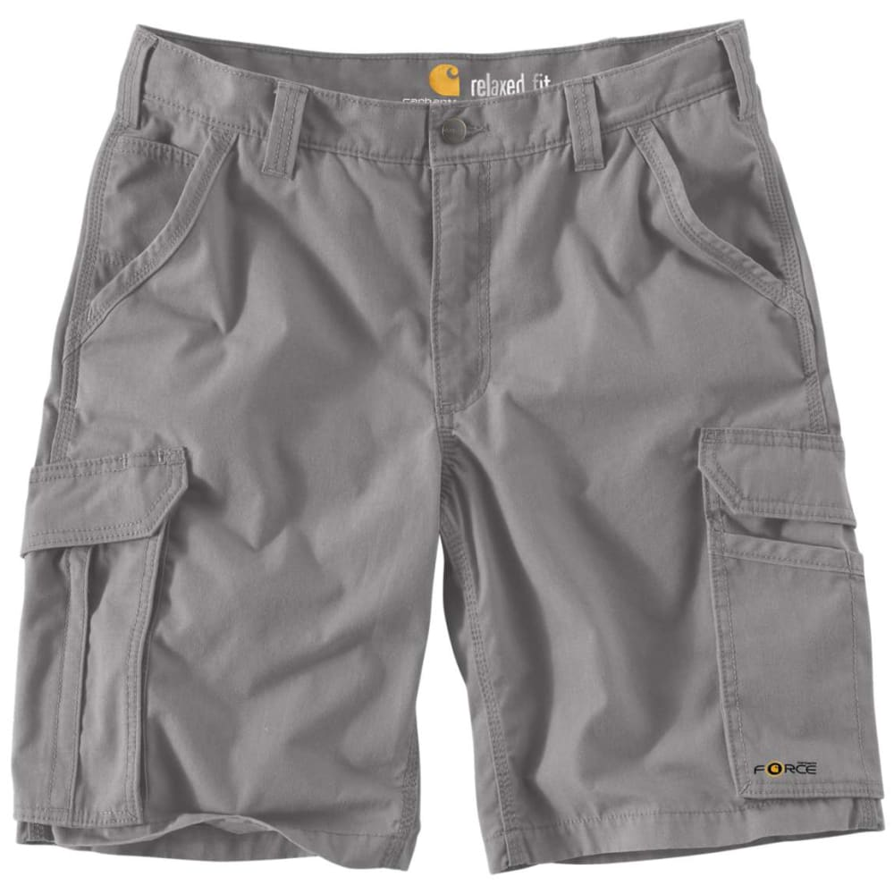 CARHARTT Men's Force Tappen Cargo Shorts - 066 ASPHALT
