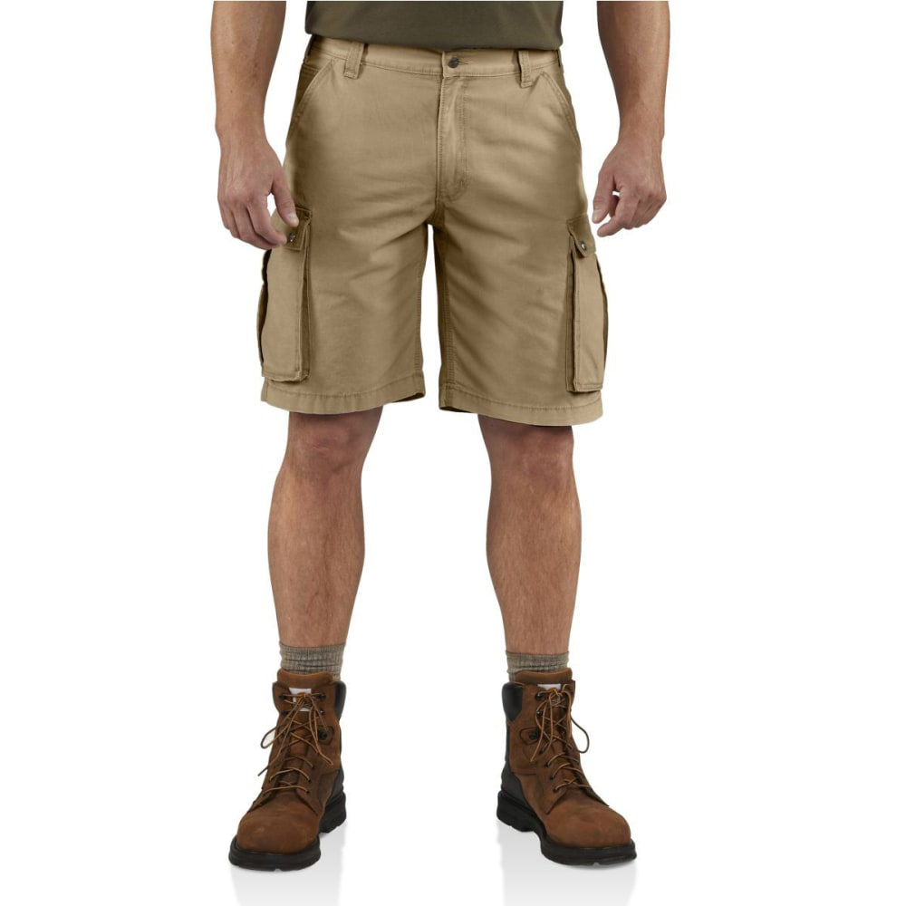 CARHARTT Men's Rugged Cargo Shorts - 253 DARK KHAKI